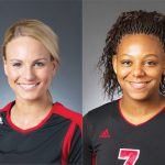UL VB: Katie George and Erin Fairs Named AVCA All-Americans‏