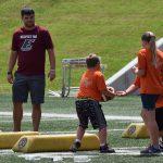 EKU Football Players Help with Free Camp