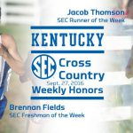 UK Cross Country Sweeps Men's SEC Weekly Honors