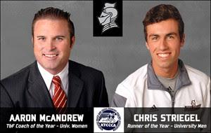 Chris Striegel and Coach Aaron McAndrew