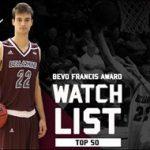 Bellarmine MBB's Eberhard makes cut, lands spot on Bevo Francis Award Top 50 Watch List