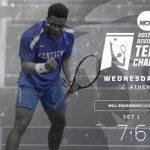 UK Mens Tennis Bushamuka Advances to Second Round of NCAA Singles Tournament