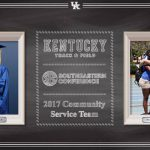 UK Track & Field's Castle and Hansen Named to SEC Community Service Team