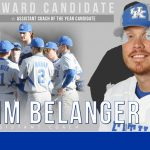 UK Baseball's Jim Belanger Assistant Coach of Year Candidate