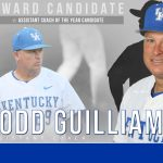 UK Baseball Todd Guilliams Assistant Coach of Year Candidate