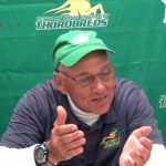 Kentucky State Football Head Coach Smith / QB Campbell Presser vs Slippery Rock