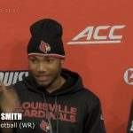Louisville Cardinals Football Bonnafon, Jackson, Smith & Williams Post Game vs Virginia