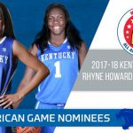UK WBB Signees Howard, Green Tabbed Nominees for 2018 McDonald's AA Game