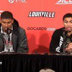 UofL MBB Malik Williams & Christen Cunningham on WIN vs Notre Dame